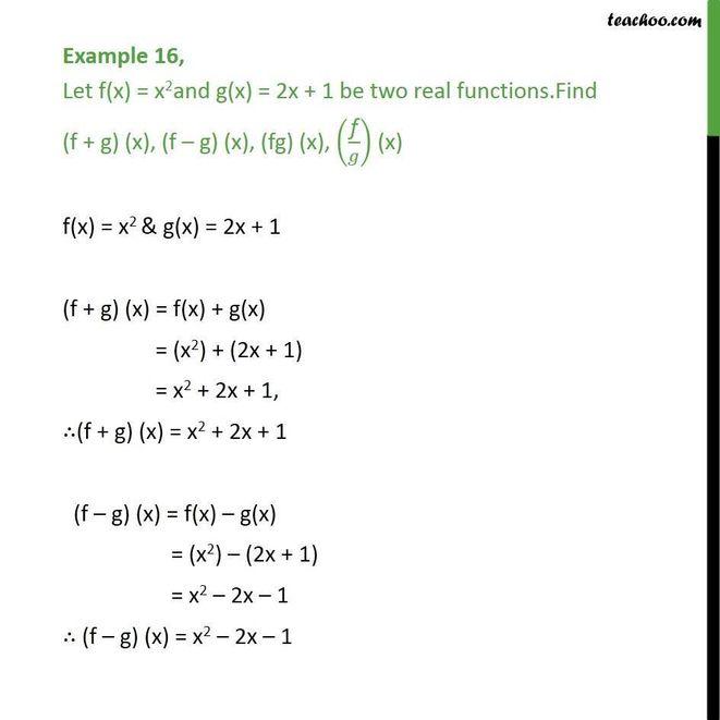 Finden Sie (f + g) (x), (f-g) (x), (f / g) (x) und (g / f) (x) für die folgenden f und g. Geben Sie die Domäne für f (x) = ( 2x + 3) an. g (x) = x²-2? - Infinitesimalrechnung